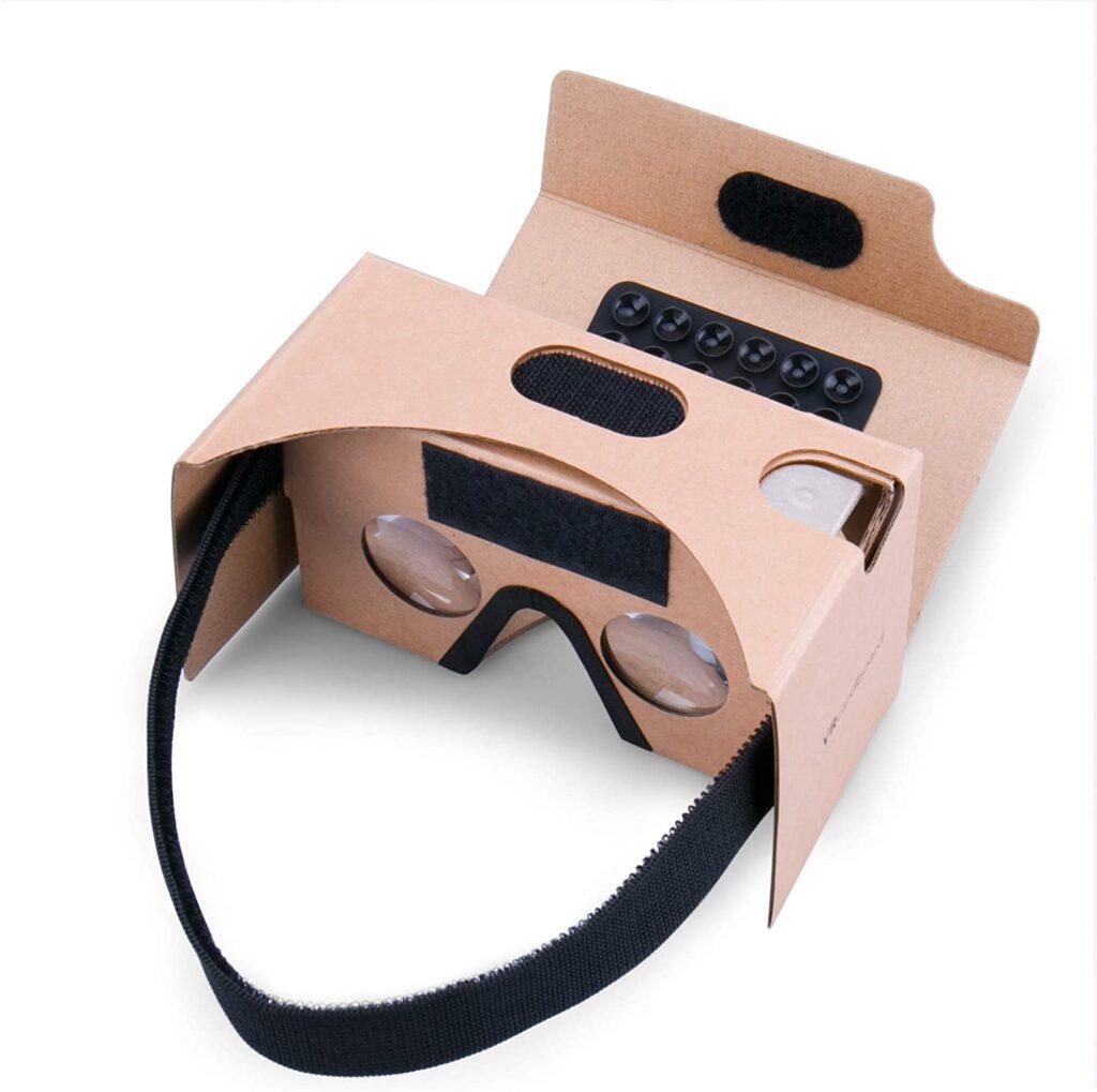 Gafas de realidad virtual baratas de cartón