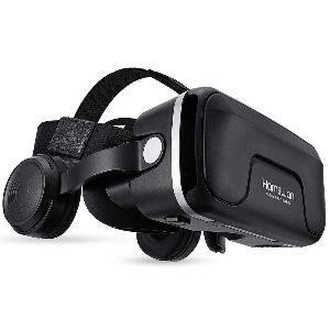 Gafas de realidad virtual con auriculares incorporados y botones